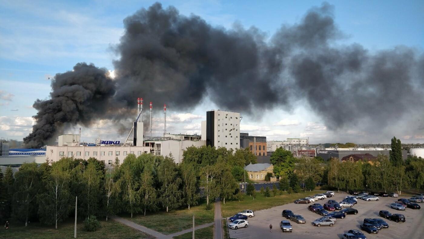 Спасатели эвакуировали 40 рабочих с охваченного пламенем завода , фото-1