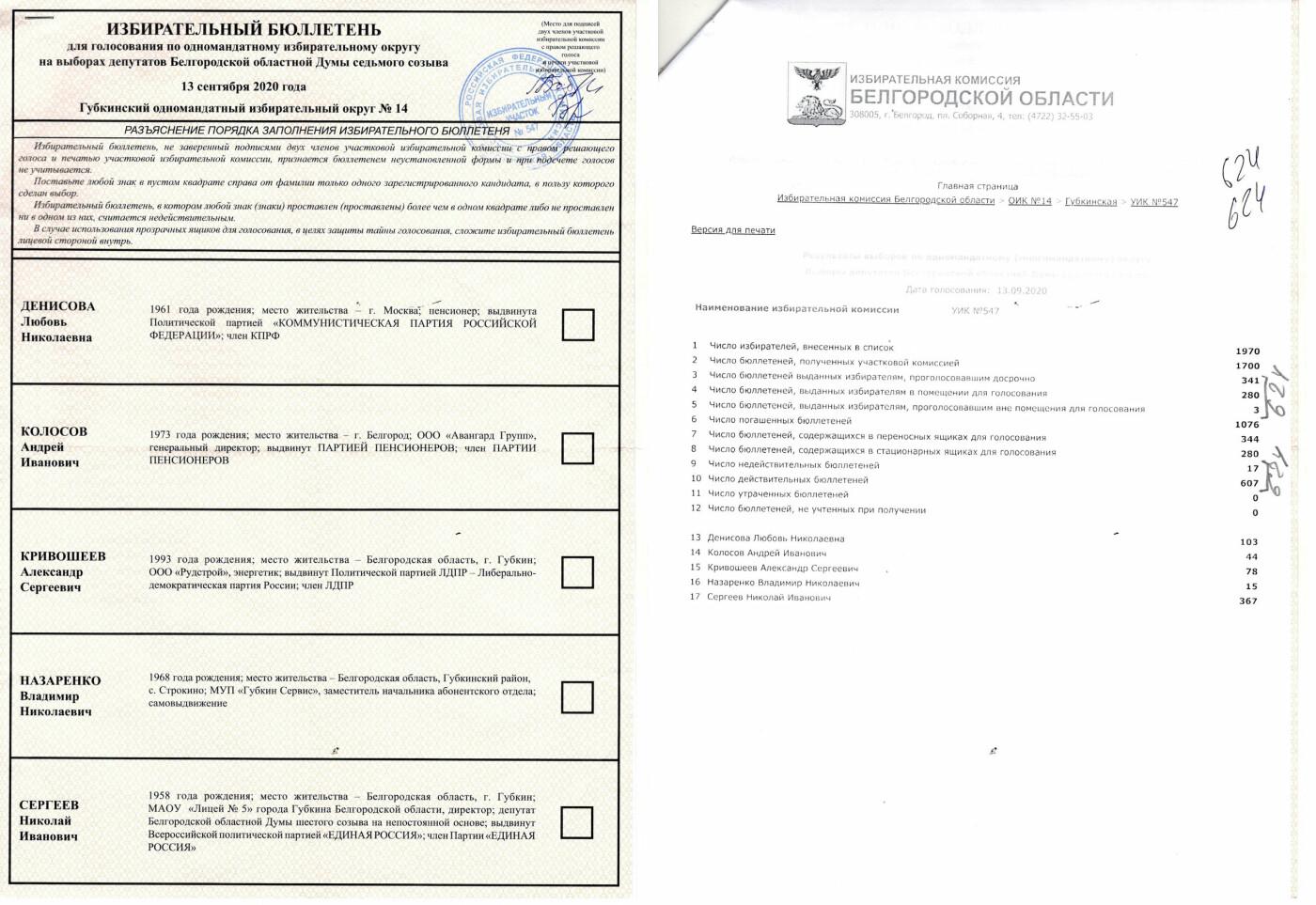 Бюллетени-невидимки. Как посчитали голоса в Губкине на выборах в областную думу, фото-4