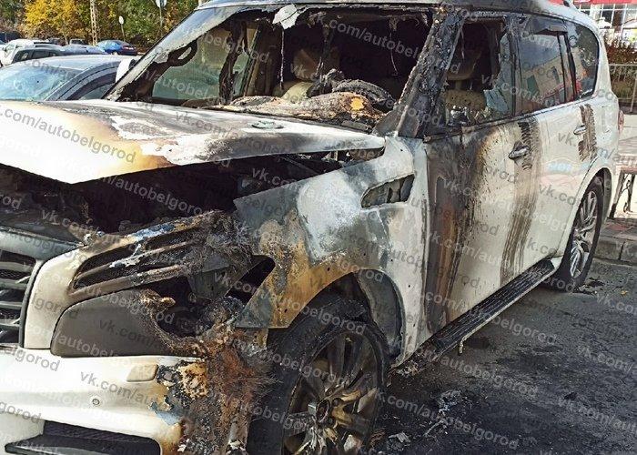 В Белгороде сгорел Infiniti с московскими номерами, фото-2