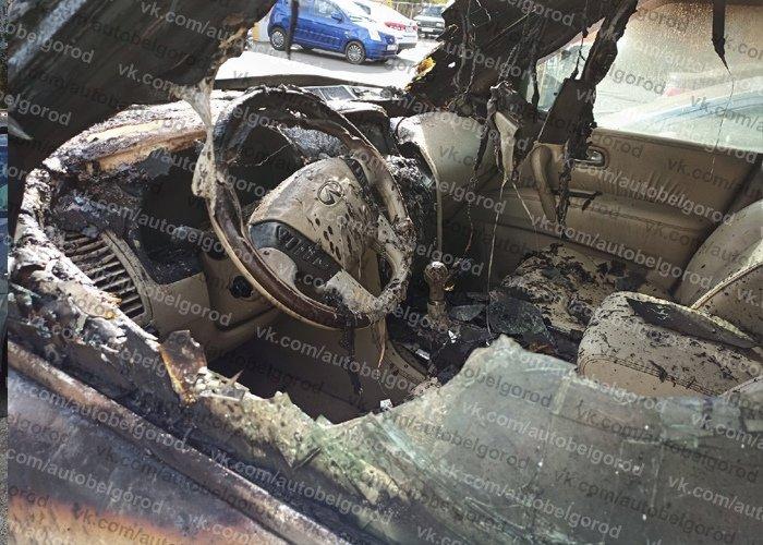 В Белгороде сгорел Infiniti с московскими номерами, фото-3