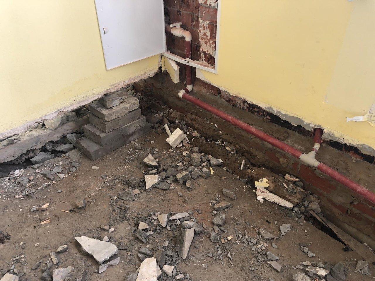 Чиновники прокомментировали обвал пола в школе под Белгородом, фото-5