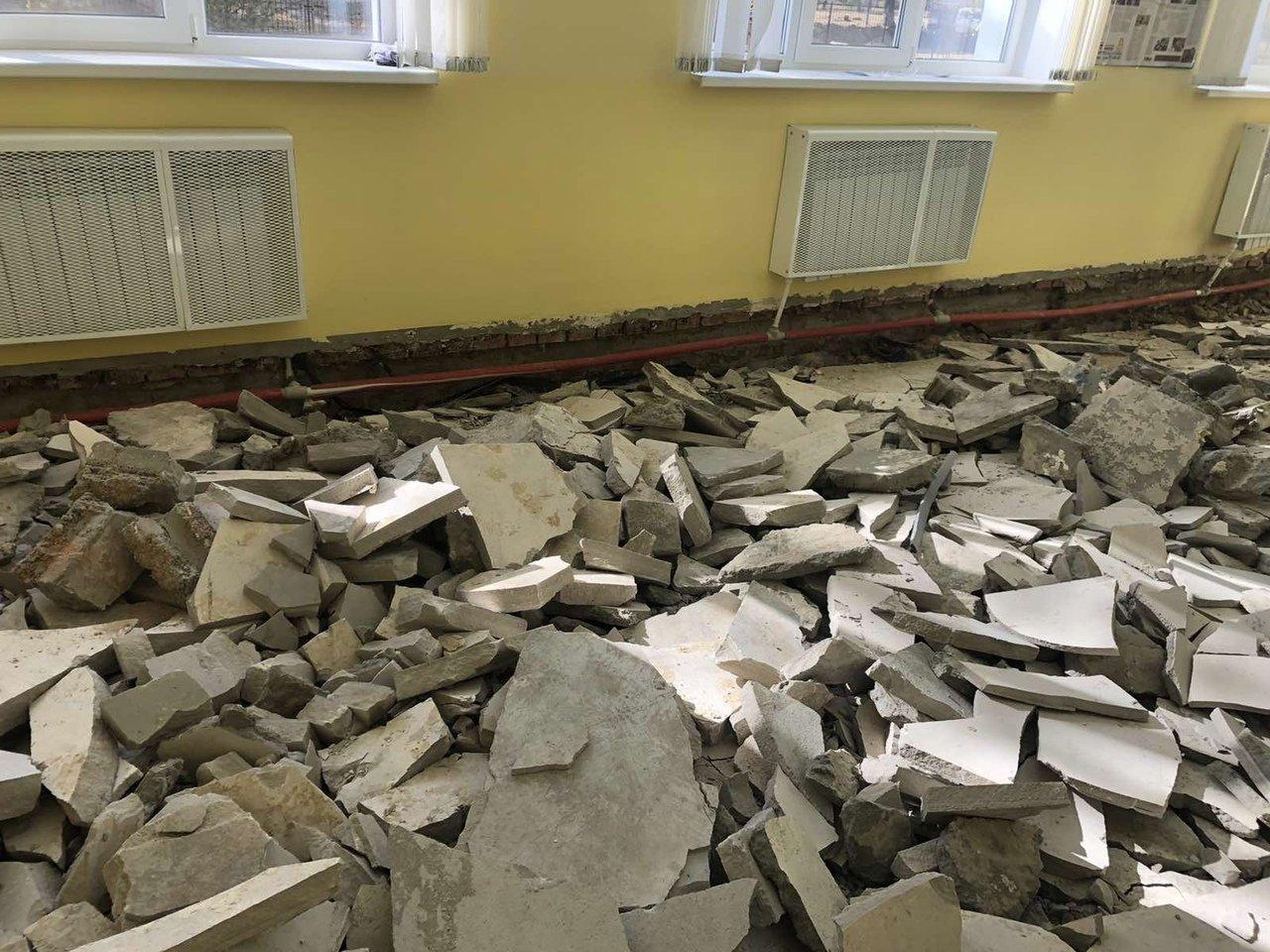 Чиновники прокомментировали обвал пола в школе под Белгородом, фото-2