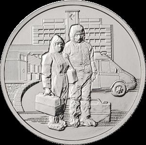 Банк России выпустил монету в честь подвига врачей, фото-1