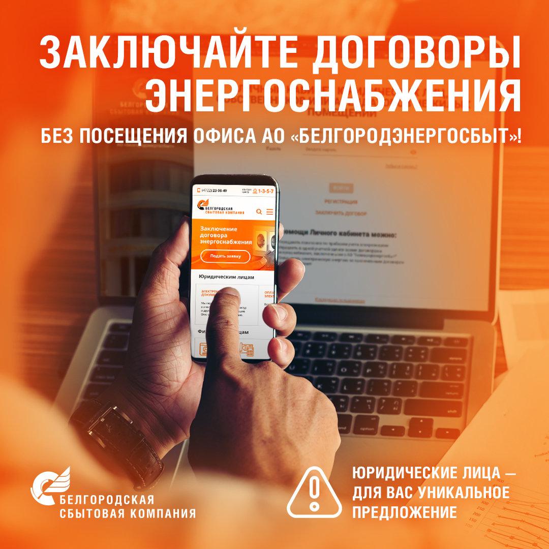 Заключить договоры энергоснабжения можно без посещения офиса Белгородской сбытовой компании, фото-1