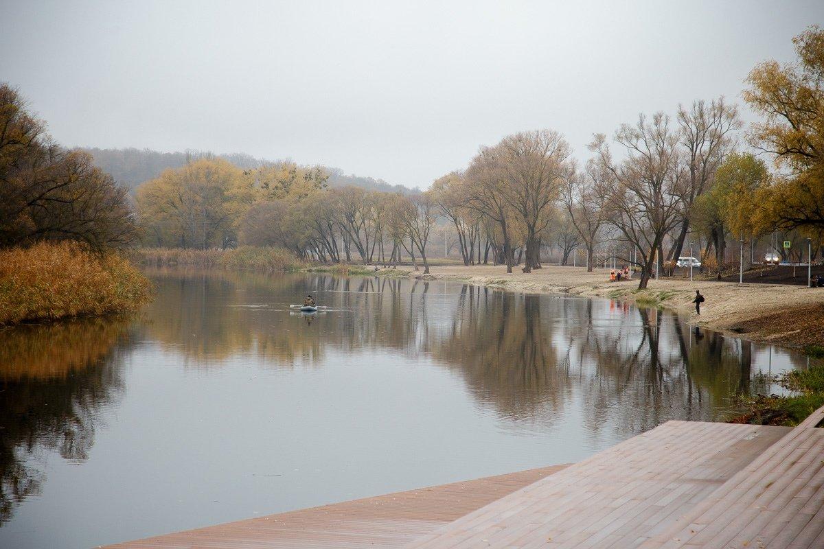 Набережная реки Нежеголь в Шебекине, Фото: пресс-служба губернатора и правительства Белгородской области