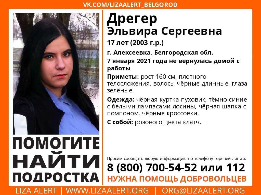 В Белгородской области пропала 17-летняя девушка, фото-1