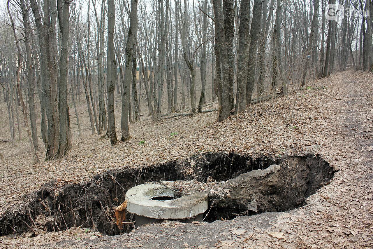 Канализационные колодцы в лесной зоне