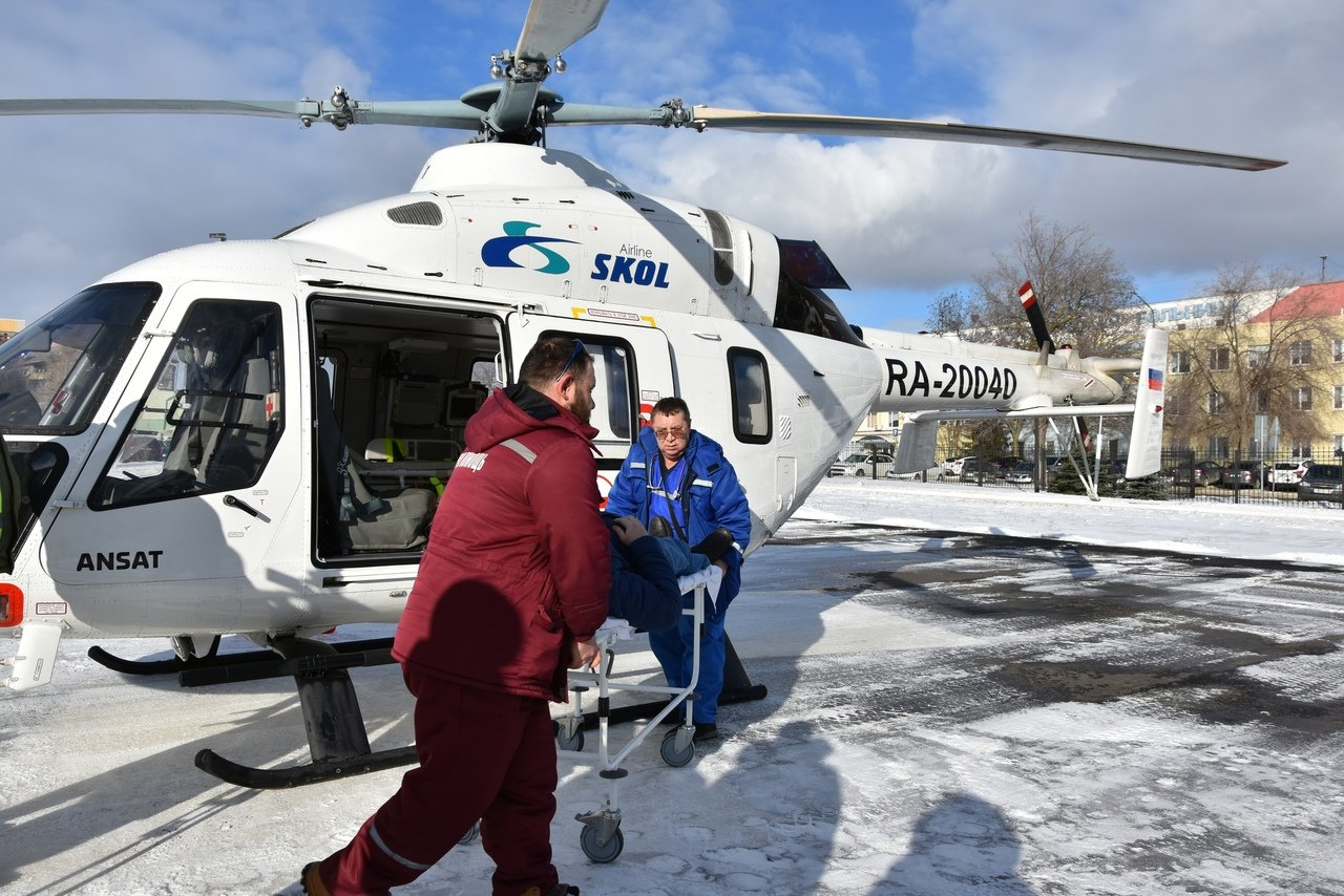 В Белгород на вертолёте доставили пациента с инфарктом