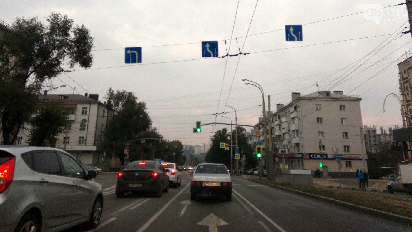 Изменение траектории движения машин продублируют на проезжей части