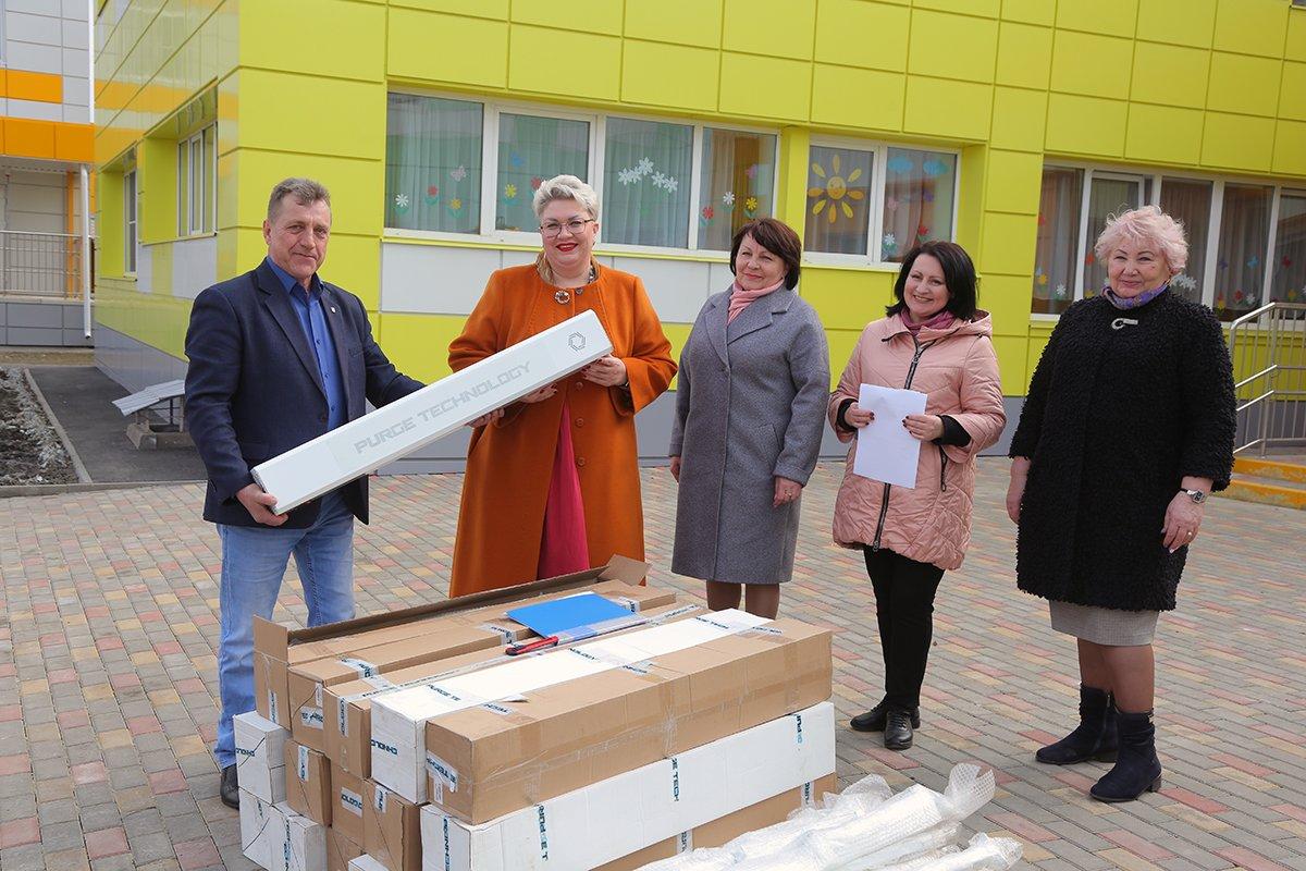 Лебединский ГОК передал детским садам Губкина рециркуляторы воздуха, фото-1