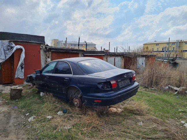 Брошенные белгородцами машины