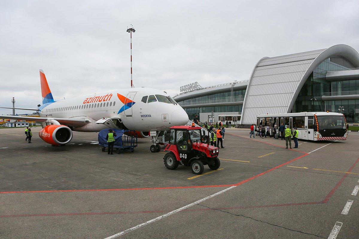 первый авиарейс из Белгорода в Минеральные Воды, фото: Антон Вергун
