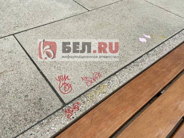 Вандалы изуродовали скамейки возле «Белгород Арены», фото-3